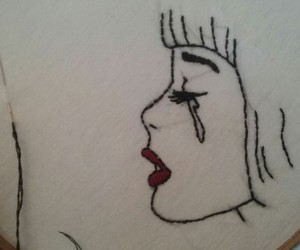 art, embroidery, and pop art image