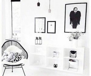 black, interior, and white image