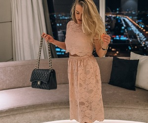 beige, blonde, and fashion image