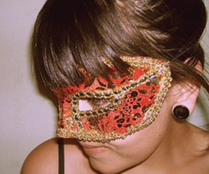 carnival, mask, and mysterious image