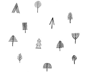 tree, drawing, and pattern image