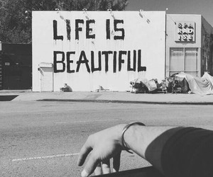 life, beautiful, and black and white image