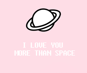 aesthetic, pink, and space image