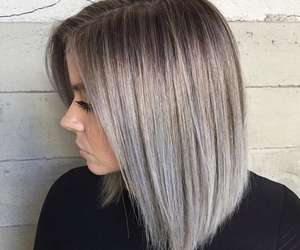 blonde, hair, and haircut image