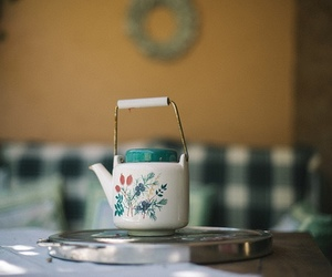 vintage, tea, and kettle image