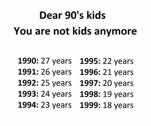 quote, 90s, and kids image