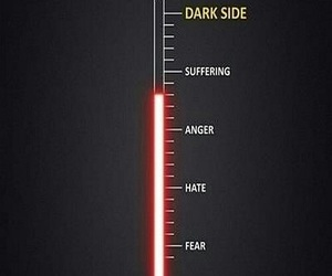 dark side, star wars, and anger image