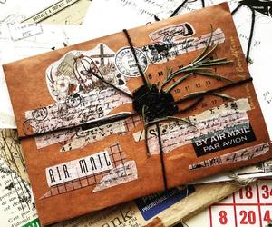 creative, journal, and mail art image
