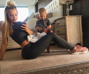 baby, family, and woman image