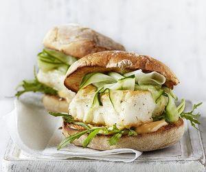 food, fish, and burger image