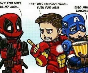 deadpool, captain america, and Marvel image