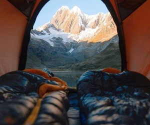 bed, landscape, and travel image