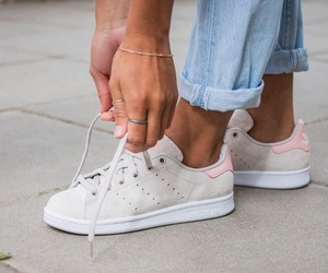 adidas, stan smith, and beige rose image