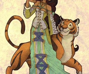 disney, drawing, and jasmine image