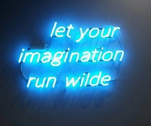 blue, neon, and imagination image