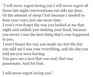 pain, quote, and regret image