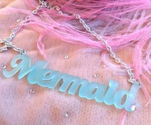 mermaid, necklace, and pink image