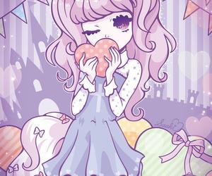 pastel, kawaii, and unicorn image