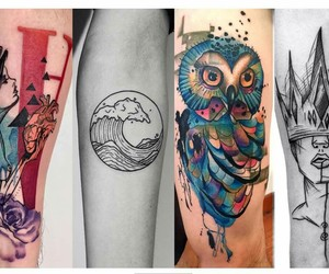 art, lifestyle, and tatoo image