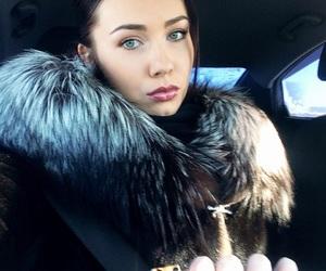 beauty, fur coat, and lips image