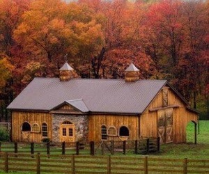 barn, stable, and autumn image