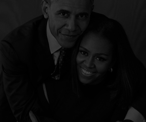 Barak Obama, love, and couple image