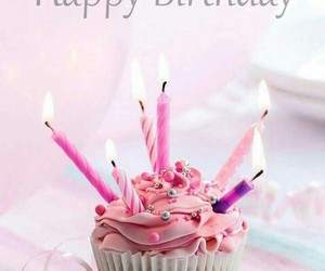birthday, cupcake, and pink image
