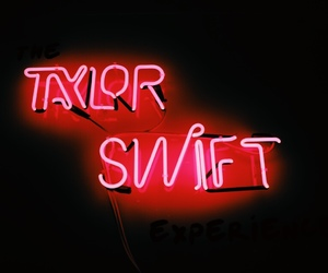 Taylor Swift and neon image