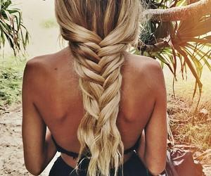 blonde hair, sun, and braid image