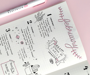 pink, tumblr, and bullet journal image