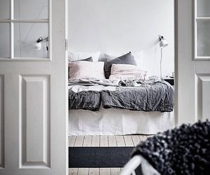 bedding, minimalist, and bedroom image