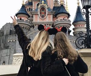 disneyland, girl, and friends image