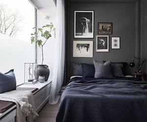 bedroom, art, and dark image