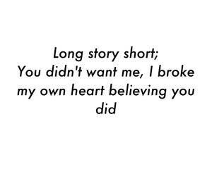 broken heart, him, and quote image