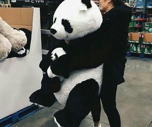 panda, girl, and style image