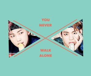 bts, v, and you never walk alone image