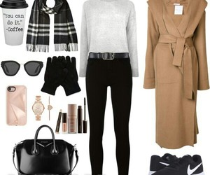 sunglasses, nike shoes, and winter sweater image