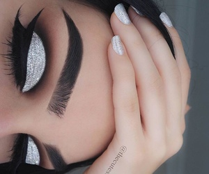 beauty, eye makeup, and eyebrows image