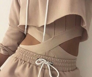 beige, brown, and outfit image