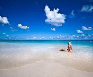 bikini, lonely, and blonde image