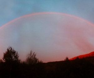 sky, rainbow, and nature image