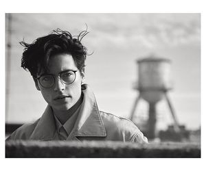 cole sprouse, black and white, and riverdale image