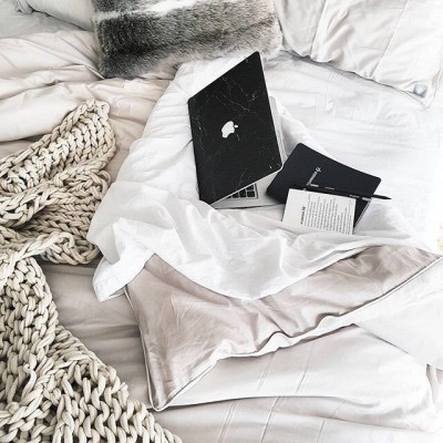 bed, apple, and white image