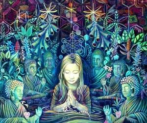 art, Buddha, and hippie image