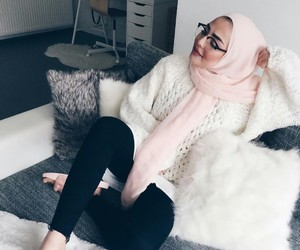 hijab, muslim, and casual image