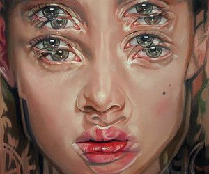 art, eyes, and face image
