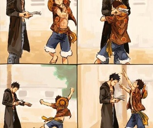 one piece, monkey d luffy, and law and luffy image