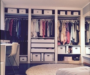 bedroom, clothes, and room image