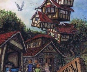 harry potter, the burrow, and weasley image