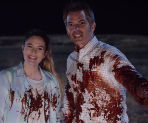 blood, drew barrymore, and Timothy Olyphant image